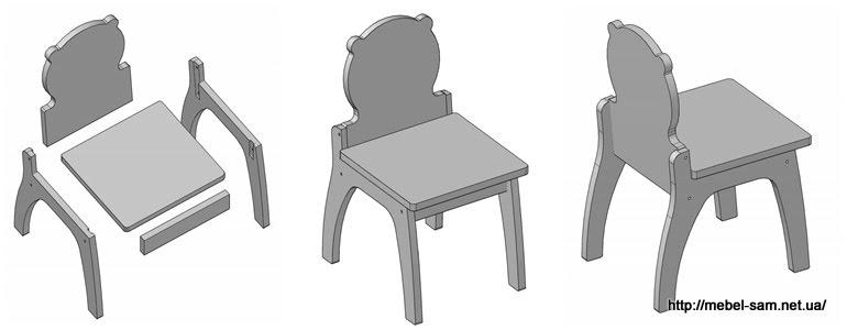 Детский стол и стул из фанеры  чертежи
