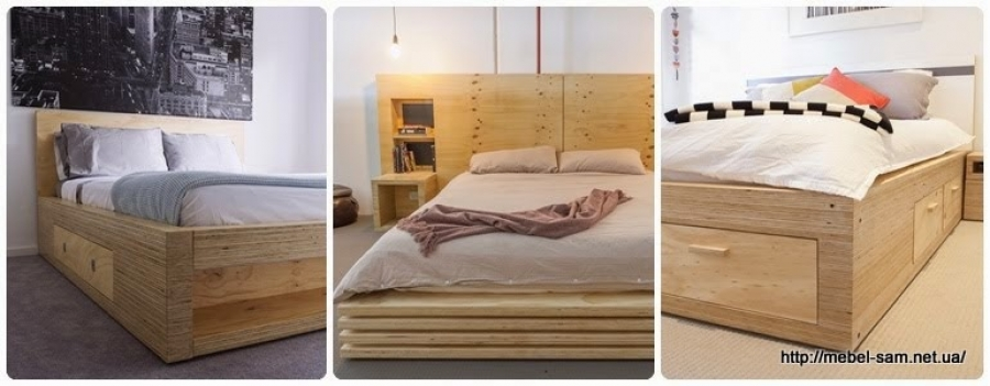 Кровать своими руками с фанеры